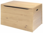 American Made Solid Pine Old Fashioned Toy Chest - Unfinished [055-UNF-FS-LC]