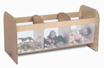 Open Toy Storage Box with Plexiglass Sides and Birch Laminate End Panels [WB0185-FS-WBR]