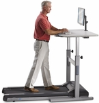 Mid-Use Treadmill Desk with 2.25 HP Continuous-Duty DC Motor - Gray [TR1200-DT5-FS-LSF]