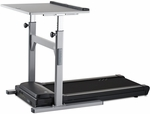 38'' Desk and Treadmill Base with Manual Adjust Legs and 2.25 HP Continuous-Duty DC Motor - Gray [TR1200-DT5-38-FS-LSF]