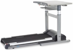 Mid-Use Treadmill Desk with Electrical Height Adjustment with 2.25 HP Continuous-Duty DC Motor - Gray [TR1200-DT7-FS-LSF]