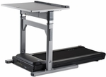 38'' Desk and Treadmill Base with Electronic Adjust Legs and 2.25 HP Continuous-Duty DC Motor - Gray [TR1200-DT7-38-FS-LSF]