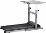 Light-Use Treadmill Desk with 2 HP Continuous-Duty DC - Gray [TR800-DT5-FS-LSF]
