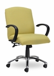 Traditional 300 Series Plain Medium Back Single Shift Quick Set Back Height Task Chair [TP211-Q22-FS-SEA]