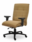 Traditional 300 Series Tufted Medium Back Single Shift Quick Set Back Height Task Chair [TT211-Q22-FS-SEA]