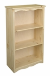 American Made Solid Knotty Pine Traditional Bookcase - Natural [065-NA-FS-LC]