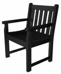 POLYWOOD® Traditional Collection Garden Arm Chair - Black [TGB24BL-FS-PD]