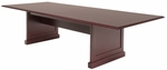 Prestige 120''W Modular Wooden Conference Table with Power Data Grommet - Mahogany [TVCTRC12048MH-FS-REG]