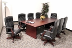 Prestige 96''W x 48''D Wooden Conference Table with Power Data Grommet - Mahogany [TVCTRC9648MH-FS-REG]
