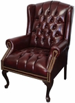 Traditional Wingback Side Chair in Oxblood [200-OXBLOOD-FS-IC]