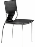 Trafico Dining Chair in Black [404131-FS-ZUO]