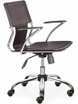 Trafico Mid-Back Chair in Espresso [205183-FS-ZUO]