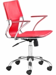 Trafico Mid-Back Chair in Red [205184-FS-ZUO]