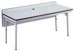 Customizable Adjustable Height Training Center Table - 24''W x 60''D x 23-27''H [STT-2448-BKS]
