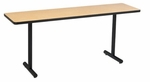 1-1/4 Thick Particle Board Top Conference/Class Room Table with T-Legs- 18''W x 60''L [LT185D-AMTB]