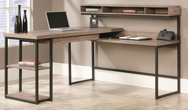 Transit 61 W X 42 H L Shape Wooden Desk With Elevated