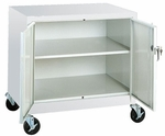 Transport Series 18'' W x 24'' D x 36'' H Work Height Storage with Adjustable Shelf - Red [TA11-182430-01-EEL]