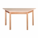 Trapezoid Oak Frame Table [2448T-OF-A1-IRO]