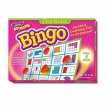 Trend Enterprises Fractions Bingo Game - 3 -36 Players - 36 Cards/Mats [TEP6136-FS-SP]