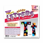 Trend Enterprises Ready Letter - with Neon Dots - 4'' - Assorted Letters/Color [TEP79754-FS-SP]