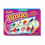 Trend Enterprises Vowels Bingo Game - 3 -36 Players - 36 Playing Cards/Mats [TEP6066-FS-SP]