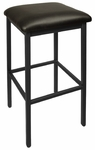Trent Backless Black Barstool - Black Vinyl Seat [2510BBLV-SB-BFMS]