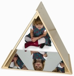 Safe Acrylic Triangle Mirror Tent with Three Panels of Mirrors [WB0719-FS-WBR]
