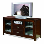 kathy ireland Home™ Tribeca Loft Collection 63''W x 31''H Tall TV Console - Burnt Umber Cherry [TLC363-FS-KIMF]
