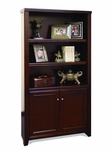 kathy ireland Home™ Tribeca Loft Collection 36''W x 70''H Bookcase with Lower Doors - Burnt Umber Cherry [TLC3670D-FS-KIMF]