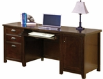 kathy ireland Home™ Tribeca Loft Collection 68.25''W x 29''H Computer Credenza - Burnt Umber Cherry [TLC689-FS-KIMF]