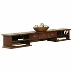 kathy ireland Home™ Tribeca Loft Collection 63.5''W x 10''H Long Reception Hutch - Burnt Umber Cherry [TLC678-FS-KIMF]
