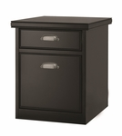 kathy ireland Home™ Tribeca Loft Collection 17''W x 22.25''H Rolling File - Midnight Smoke Black [TL202-FS-KIMF]