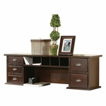 kathy ireland Home™ Tribeca Loft Collection 48''W x 15''H Short Reception Hutch - Burnt Umber Cherry [TLC478-FS-KIMF]