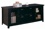 kathy ireland Home™ Tribeca Loft Collection 68.25''W x 29''H Storage Credenza - Midnight Smoke Black [TL687-FS-KIMF]