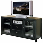 kathy ireland Home™ Tribeca Loft Collection 63''W x 31''H Tall TV Console - Midnight Smoke Black [TL363-FS-KIMF]