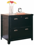 kathy ireland Home™ Tribeca Loft Collection 30''W x 29''H Two Drawer Lateral File - Midnight Smoke Black [TL450-FS-KIMF]