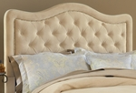 Trieste Upholstered Headboard with Rails and Nail Head Trim - Queen - Buckwheat [1566HQRT-FS-HILL]