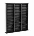 Triple Width Barrister Tower with 21 Adjustable Shelves [BMB-1200-K-FS-PP]