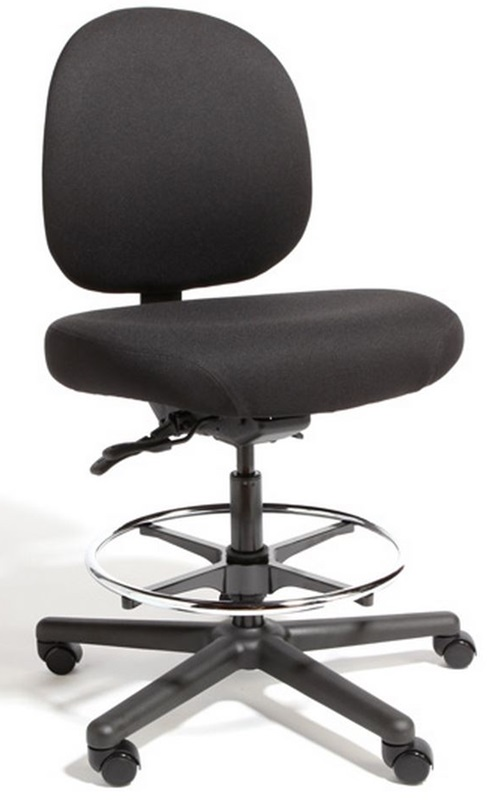 Triton Max Large Back Mid Height Drafting Chair With 500