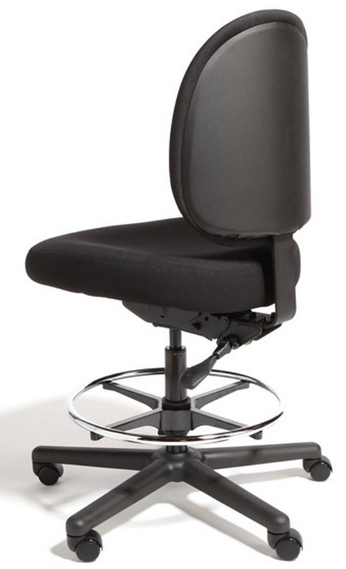 Triton Max Large Back Mid Height Drafting Cleanroom Chair