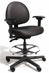 Triton Medium Back Mid-Height Drafting Chair with 350 lb. Capacity - 4 Way Control [TRMM4-FS-CRA]