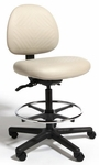 Triton Plus Large Back Mid-Height Drafting Chair with 350 lb. Capacity - 4 Way Control [TPLM4-FS-CRA]