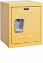 Trophy Yellow Kids Mini Locker Unassembled - 15''W x 15''D x 24''H