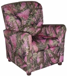 Kids Recliner with Button Tufted Back - True West Pink [400-TRUE-WEST-PINK-FS-BZ]