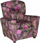 Kids Home Theatre Recliner with Cupholder - True West Pink [401C-TRUE-WEST-PINK-FS-BZ]