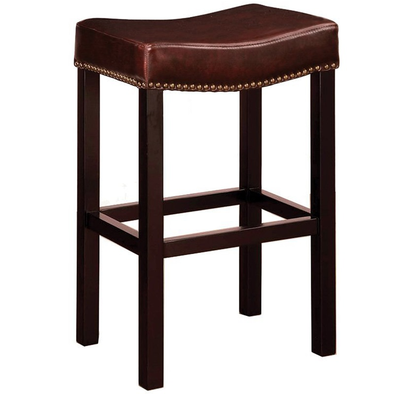 Tudor 26H Bonded Leather Backless Counter Stool with  : tudor 26 h bonded leather backless counter stool with nailhead trim brown lcmbs013babc26 fs arm 5 from www.bizchair.com size 800 x 800 jpeg 75kB