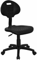 'Tuff Butt'' Soft Black Polyurethane Utility Task Chair