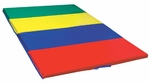 4' x 6' Pre-School 2'' Thick Tumbling Mat with Handles and Hoop and Loop Extensions [ELR-028-ECR]