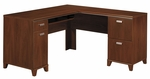 Tuxedo L-Shaped Computer Desk - Hansen Cherry [WC21430K-FS-BHF]