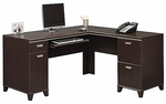 Tuxedo L-Shaped Computer Desk - Mocha Cherry [WC21830K-FS-BHF]